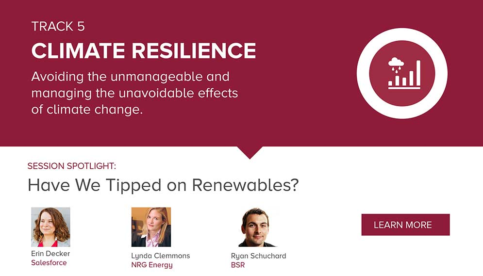 Customize Your Agenda: Climate Resilience Track